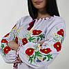Женская вышиванка из хлопка с цветочным узором