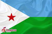 Флаг Джибути 90*135 см., атлас плотный.,1-но сторонняя печать
