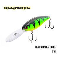Воблер Megabite Deep Runner 600 F (80 мм, 26,7гр, 6m)№16