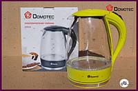 Электрический чайник (стекло) Domotec DT 810, электрочайник-термос, стеклянный электрочайник 2 л