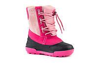 Зимние детские сапоги Alisa LINE Jeans для девочки, розовые р.32-37