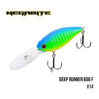 Воблер Megabite Deep Runner 600 F (80 мм, 26,7гр, 6m)№14