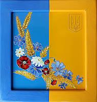 "Декоративное панно на  металле ""Слава Украине"""