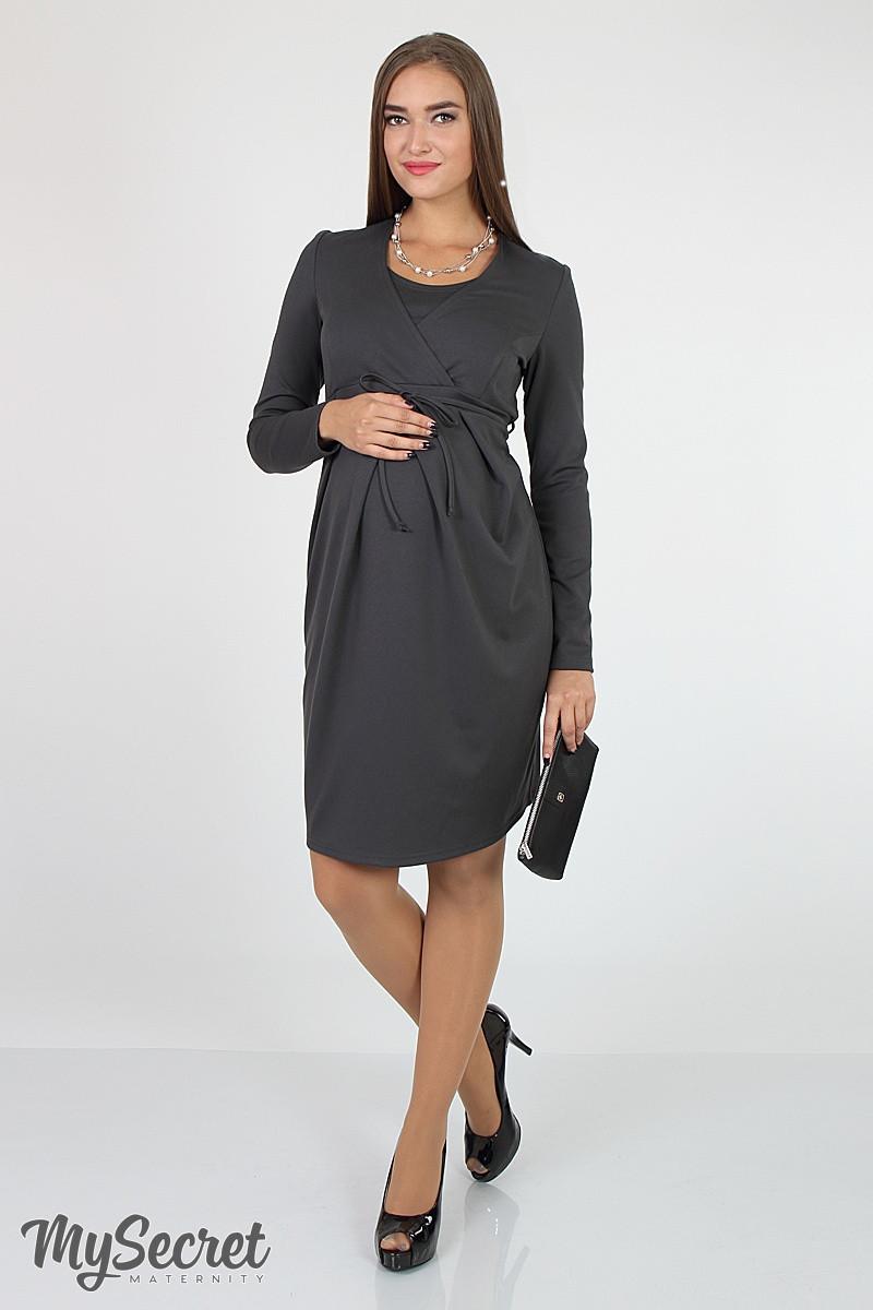 Платье для беременных и кормящих Winona DR-36.021, графит размер S