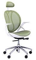 Кресло Lotus HR белый (сетка зеленая)
