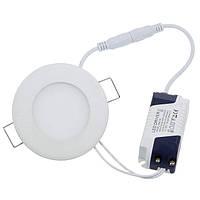LED Светильник Встраиваемый BIOM (круг) 3W 4500K Алюминий 300Lm