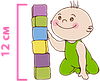 детский матрас Baby Soft / Бейби Софт 60х120 ЕММ h12 Herbalis Kids кокос боннель , фото 5