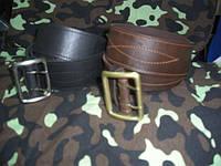 Ремни кожаные офицерские пряжка латунь штамповочная