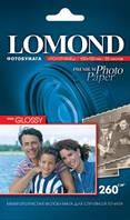 Lomond Полуглянцевая ( Semi-Glossy ) микропористая фотобумага для струйной печати, 10x15, 260 г/м2, 20 листов