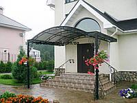 Козырек над входом с опорами 29