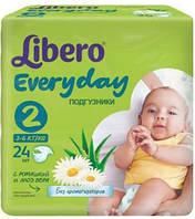 Подгузники для детей LIBERO EVERYDAY 2 24шт.