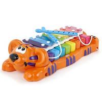 Развивающая музыкальная игрушка Тигренок ксилофон два в одном звук Little Tikes 629877MP