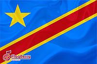 Флаг ДР Конго 100*150 см.,флажная сетка.,2-х сторонняя печать