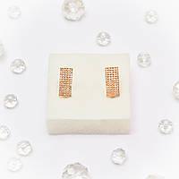 Золотые серьги с цирконием/фианитами 99864