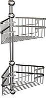 Полка металлическая (латунь) двойная угловая, Andex  Classic, 042/K2cc