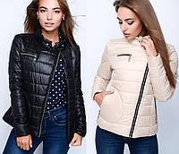 Короткая оригинальная женская  куртка