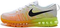 Женские кроссовки Nike Air Max Flyknit (найк аир макс флайнит) белые