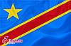 Флаг ДР Конго 90*135 см., атлас плотный.,1-но сторонняя печать