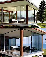 Телескопическая раздвижная система для балкона, лоджии,террасы Metalglas LG-100