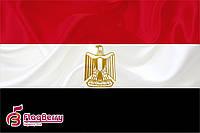 Флаг Египта 80*120 см.,флажная сетка.,2-х сторонняя печать