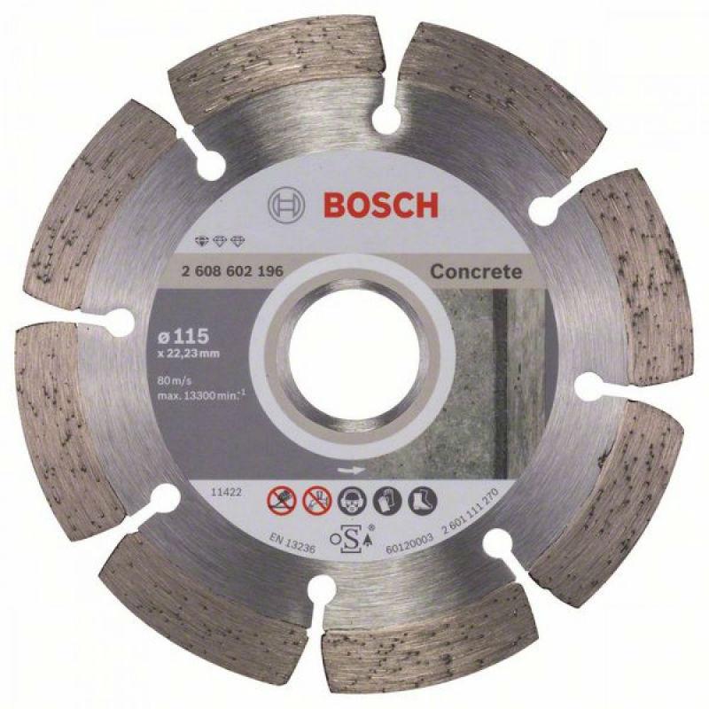 Алмазный отрезной круг Bosch Standart for Concrete115x22,23