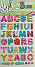 """Детские наклейки Bling """"Алфавит - 1"""" Размер наклейки 28 х 15 см"""