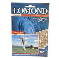 Lomond Суперглянцевая (Super Glossy) микропористая фотобумага для струйной печати, 10x15, 295 г/м2, 20 листов
