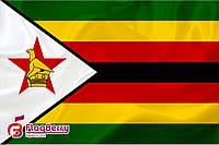 Флаг Зимбабве 80*120 см.,флажная сетка.,2-х сторонняя печать