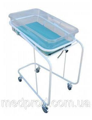 Кроватка новорожденного типа Алиса на колесах с кювезом и матрасиком