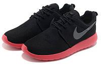 "Кроссовки Nike Roshe Run ""Black Pink"" - ""Черные Розовые"" (Копия ААА+)"