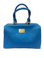 Женская сумка-саквояж D&G, Дольче Габбана голубая