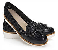 Черные женские лоферы ESSENIA от Vices 38 размер