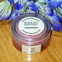 """Бальзам для губ с пчелиным воском и маслом дерева Ши """"Ватермелон"""", 20 гр, производитель """"Кхади"""""""