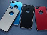 Чехлы для iPhone 5 5S металлические с вырезом под логотип, фото 1