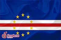 Флаг Кабо-Верде 80*120 см., искуственный шелк