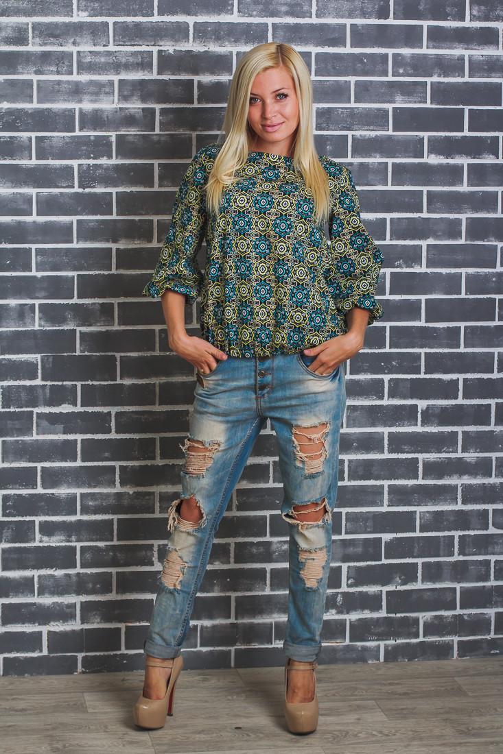Блуза женская узор
