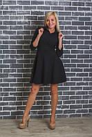 Платье до колена черное