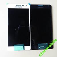 Дисплей для мобильного телефона Samsung A5/A500F, белый, с тачскрином (Тайваньская копия)