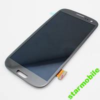 Дисплей для Samsung i9300 Galaxy S3 синий + сенсор