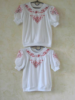 Вышиванка для девочки Виталина Размер 134 - 140 см