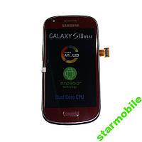 Дисплей для Samsung i8190 Galaxy S3 mini + сенсор красного цвета (original pn: GH97-14204C)