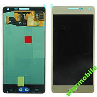 Дисплей для мобильного телефона Samsung A5/A500F, золотой, с тачскрином (Тайваньская копия)