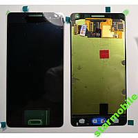 Дисплей для мобильного телефона Samsung A5/A500F, черный, с тачскрином (Тайваньская копия)