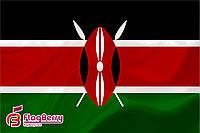 Флаг Кении 100*150 см.,флажная сетка.,2-х сторонняя печать