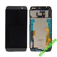 Дисплей для мобильного телефона HTC One E8 Dual Sim, черный, с сенсорным экраном, с передней панелью