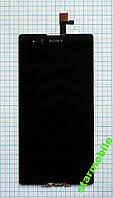 Дисплей SONY D5322/Xperia T2, черный, с тачскрином