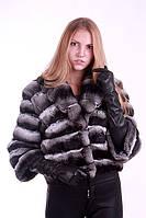 Полушубок из шиншиллы с отложным воротником chinchilla fur coat fur-coat with flexible pop up collar, фото 1