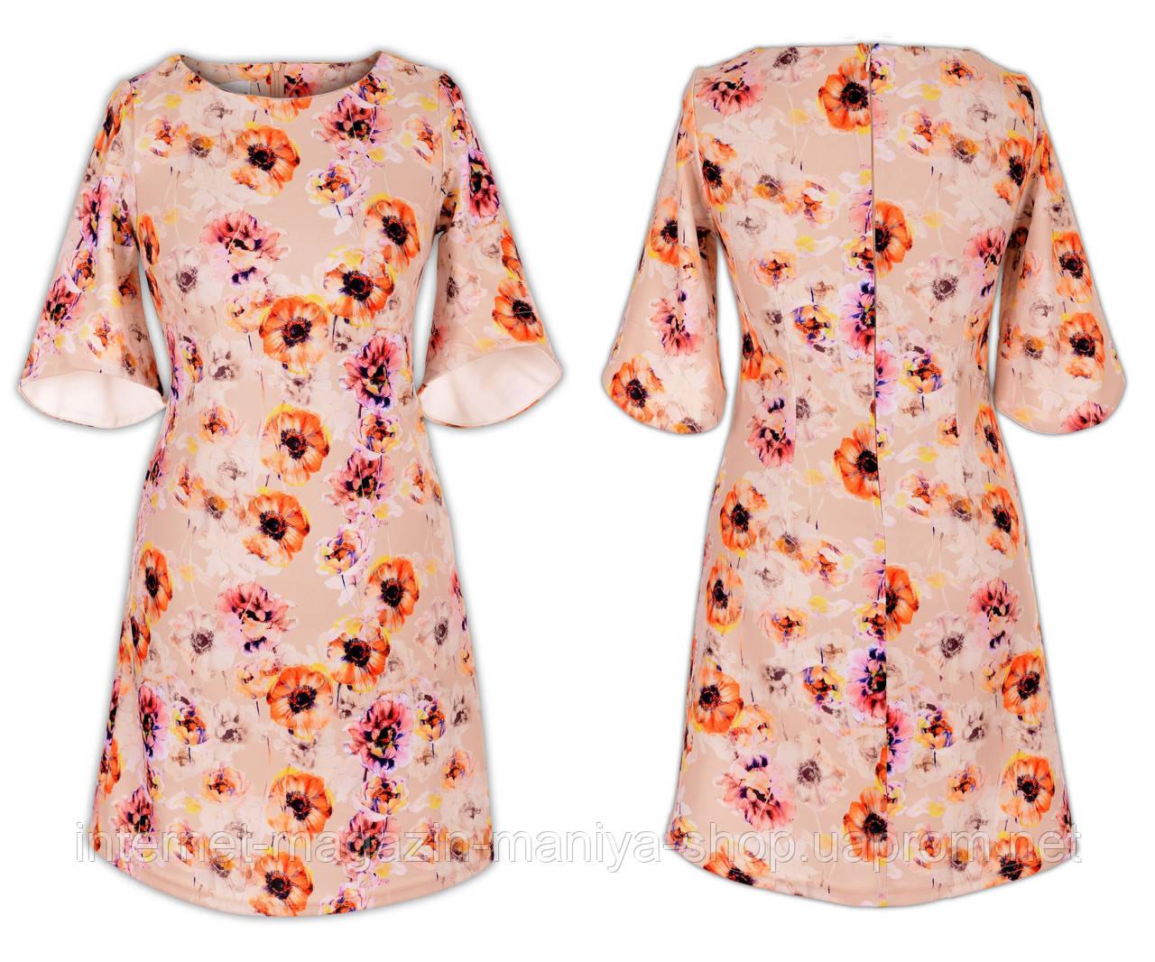 Платье женское цветочный принт