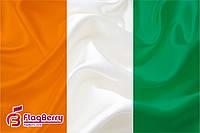 Флаг Код-д'Ивуар 90*135 см., атлас плотный.,1-но сторонняя печать