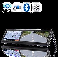 Автомобильное зеркало заднего вида с GPS-навигатором + Bluetooth (9693)